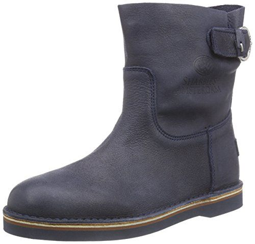 Shabbies Amsterdam Shabbies stitchdown buckle booty 17cm Vintage sole last ALISSA, Damen Kurzschaft Stiefel, Blau (Dark Blu 522), 40 EU - http://on-line-kaufen.de/shabbies-amsterdam/40-eu-shabbies-amsterdam-shabbies-stitchdown
