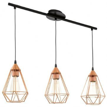 Suspension 3 Lampes Tarbes EGLO 94195 Cuivre