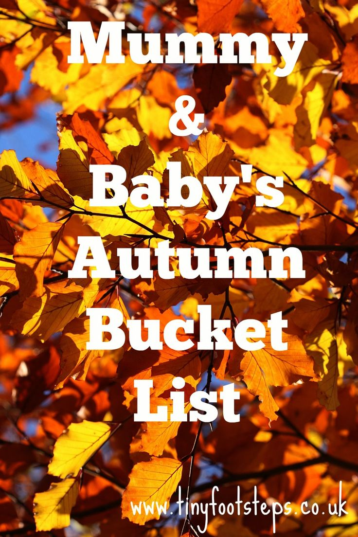 Tinyfootsteps: Our Autumn Bucket List
