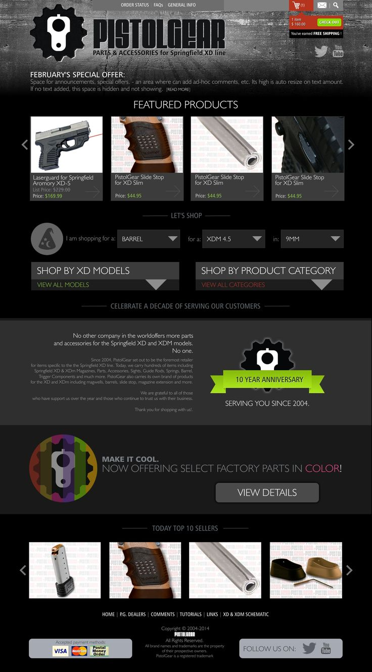Final design. Check HTML5/CSS site on http://webdesign.design1host.com/pistolgear/html or final product on https://www.pistolgear.com/