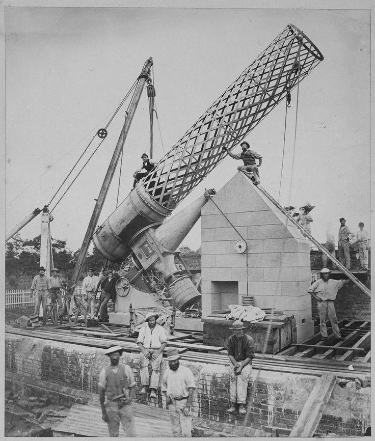 Negative - Erection of Great Melbourne Telescope, 1869 - Museum Victoria