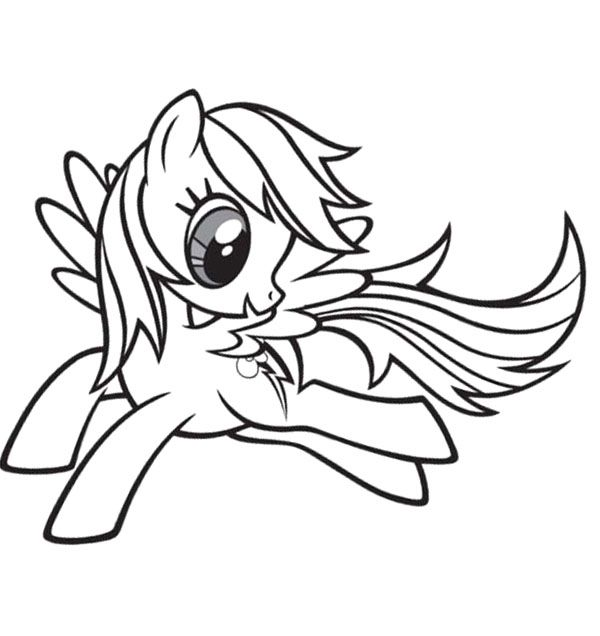 Rainbow Dash Pictures To Print Baby Rainbow Dash Coloring Page My Little Pony