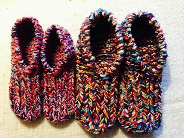 Knitted / woolen shoes self-knitted