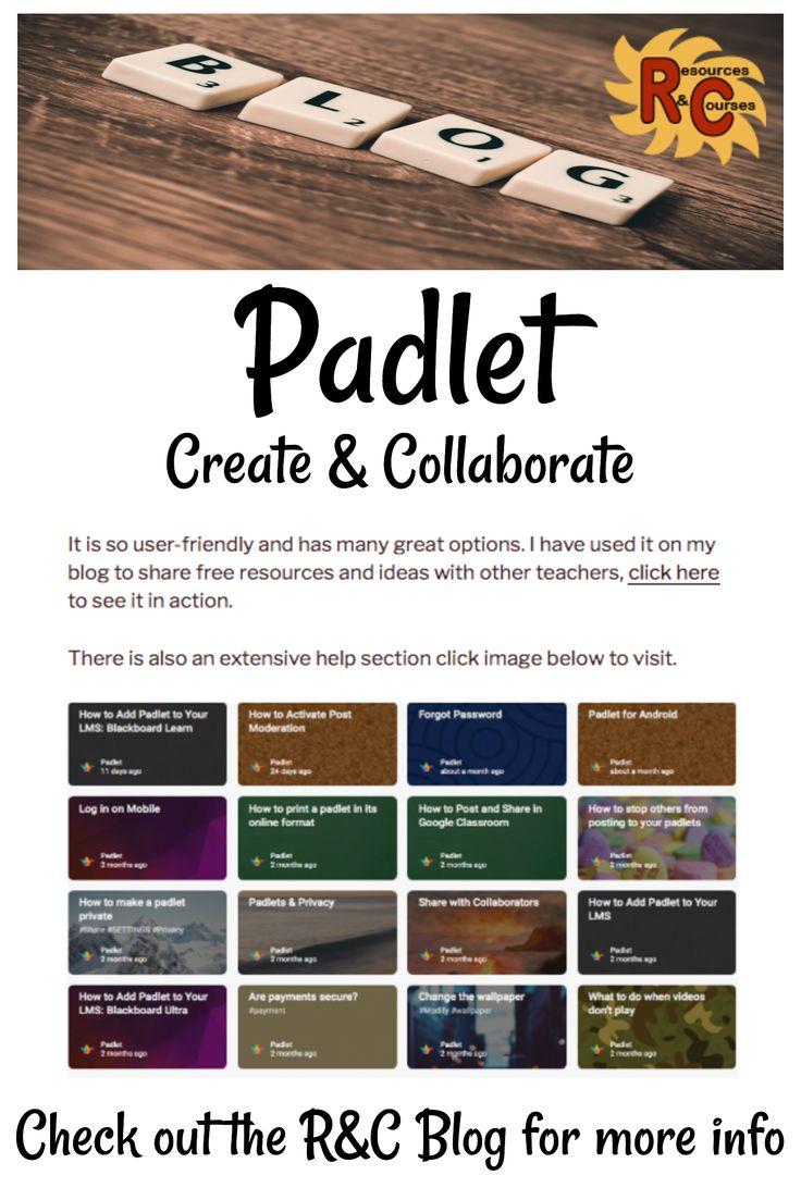More Ideas For Using Padlet