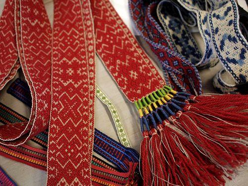"Alfia Khairullina on April 4, 2013 ""Some time ago I spent a weekend in Landskrona, in a wonderful shop called Hemslöjden Skåne , and tried some band weaving on a rigid heddle with a weaver Gunvor Johansson as a teacher."""