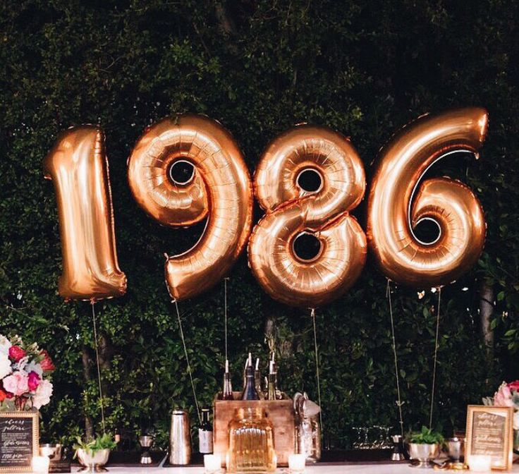 Balloons for birth year