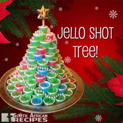 South African Recipes | Jello Shot Tree - 102 Flavors of Jello Shooters