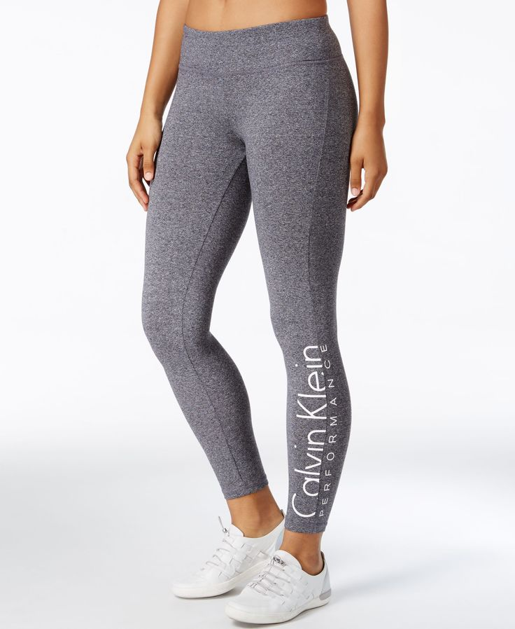 Make sleek comfort part of your workout or weekend routine with these leggings from Calvin Klein Performance, finished with a logo for signature style. | Cotton/spandex | Machine washable | Imported |