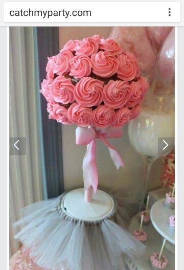 Girl baby shower cupcake flower?