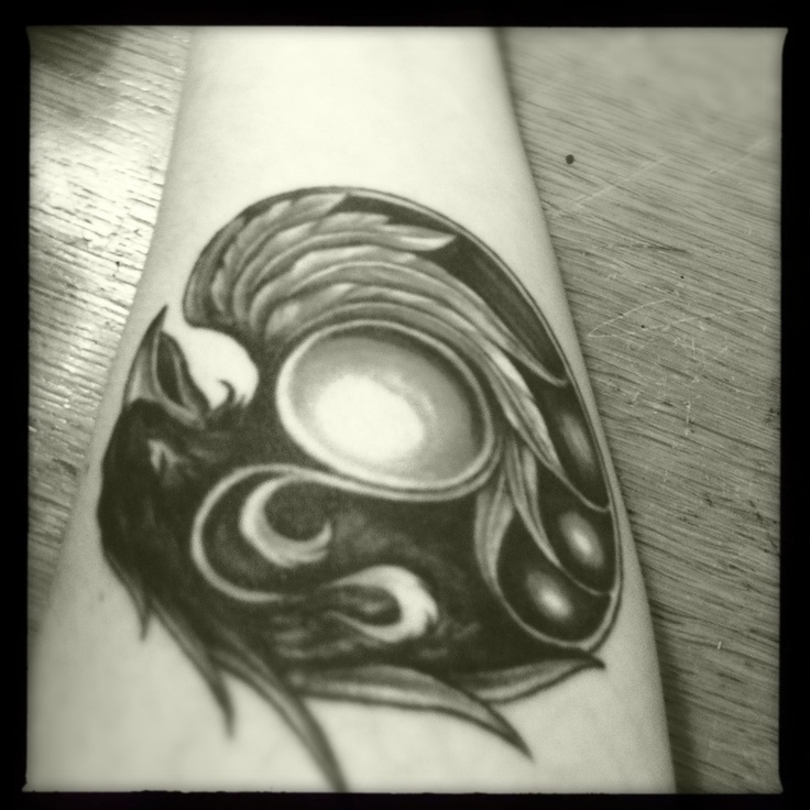 Something I wore today - my raven tattoo  3 May 2012