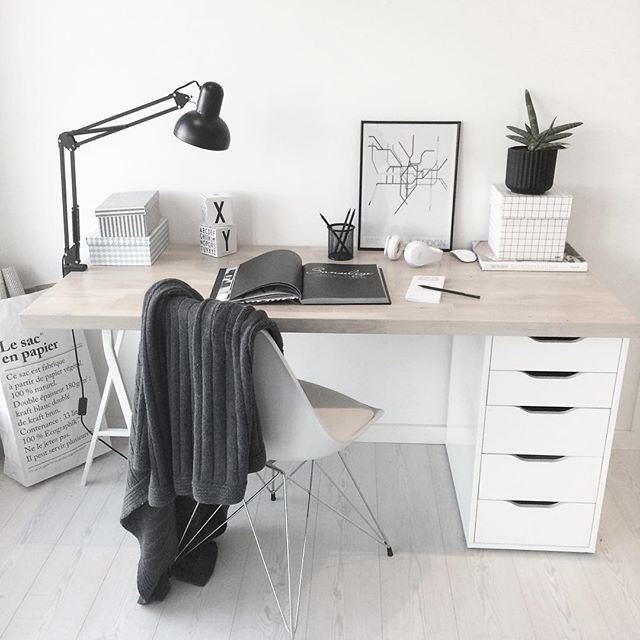 minimalist desk office - Ikea Desk Ideas