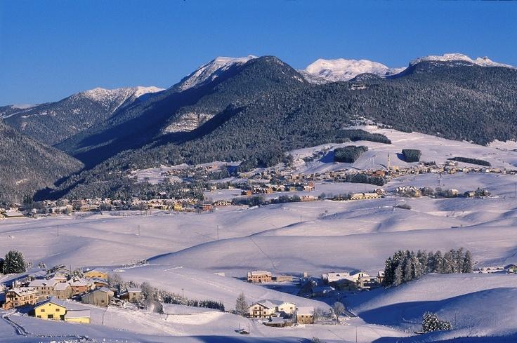 Una veduta di Camporovere immersa nella neve...