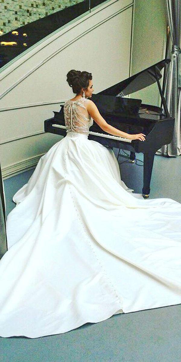 18 Simple Wedding Dresses For Elegant Brides ❤ See more: http://www.weddingforward.com/simple-wedding-dresses/ #wedding #dresses