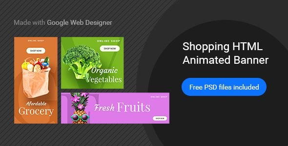 online shopping html5 google banner ad 25 animated banner ad