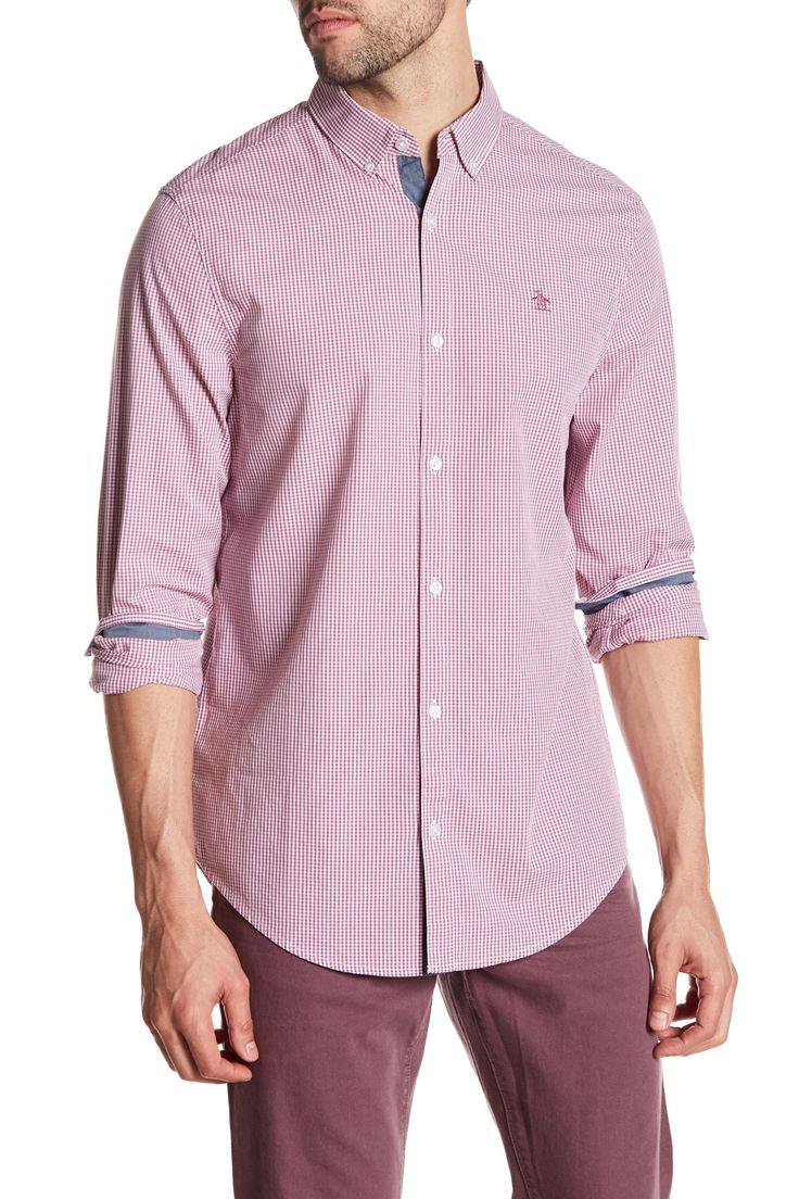 Gingham Long Sleeve Heritage Slim Fit Shirt