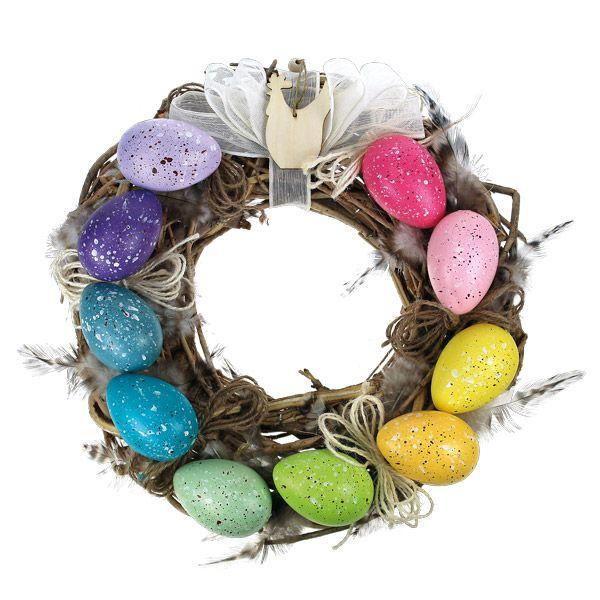 Värikäs pääsiäiskranssi. Tarvikkeet ja ideat Sinellistä!
