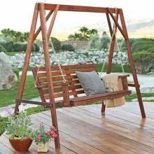 Free-standing porch swing.