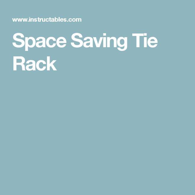 Space Saving Tie Rack