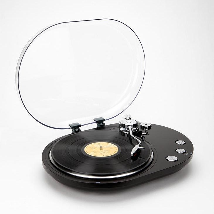 Oval USB Turntable Converts Vinyl Recorders into Digital Music.. Oh baby, great birthday gift for my favorite person.