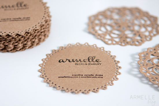 Armelle Blog: doily business cards + packaging ...