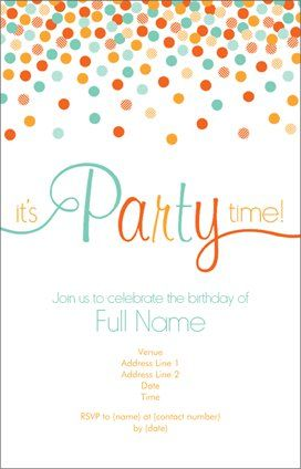 Adult Birthday Invitations And Announcements Templates Designs