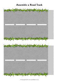 Assemble a road track (SB10380) - SparkleBox