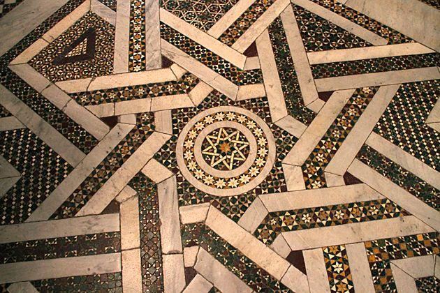 Moorish deisgn tile flooring #Monreale #Sicily