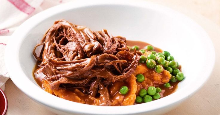 Slow-cooked beef brisket with sweet barbecue sauce - Use your slow-cooker to make melt-in-the-mouth beef in sweet barbecue sauce.