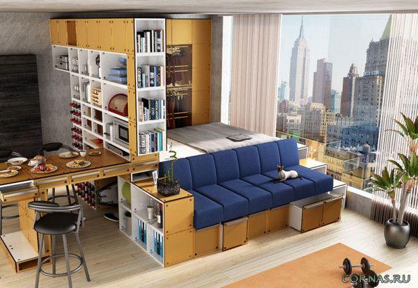 Дизайн квартиры студии 25 кв.м