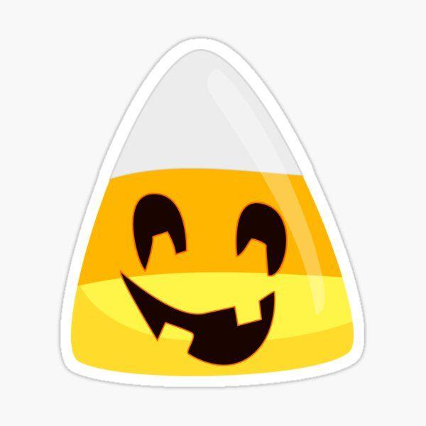 Halloween Candy Corn Pumpkin Emoticon Face Sticker In 2020 Pumpkin Candy Corn Emoticon Faces Halloween Candy Corn