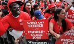 Approximately 40,000 Verizon employees are striking today, demanding the company pay fairly and stop the offshoring of jobs.
