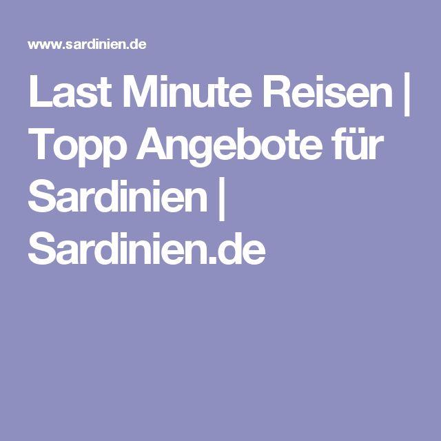 Last Minute Reisen | Topp Angebote für Sardinien | Sardinien.de