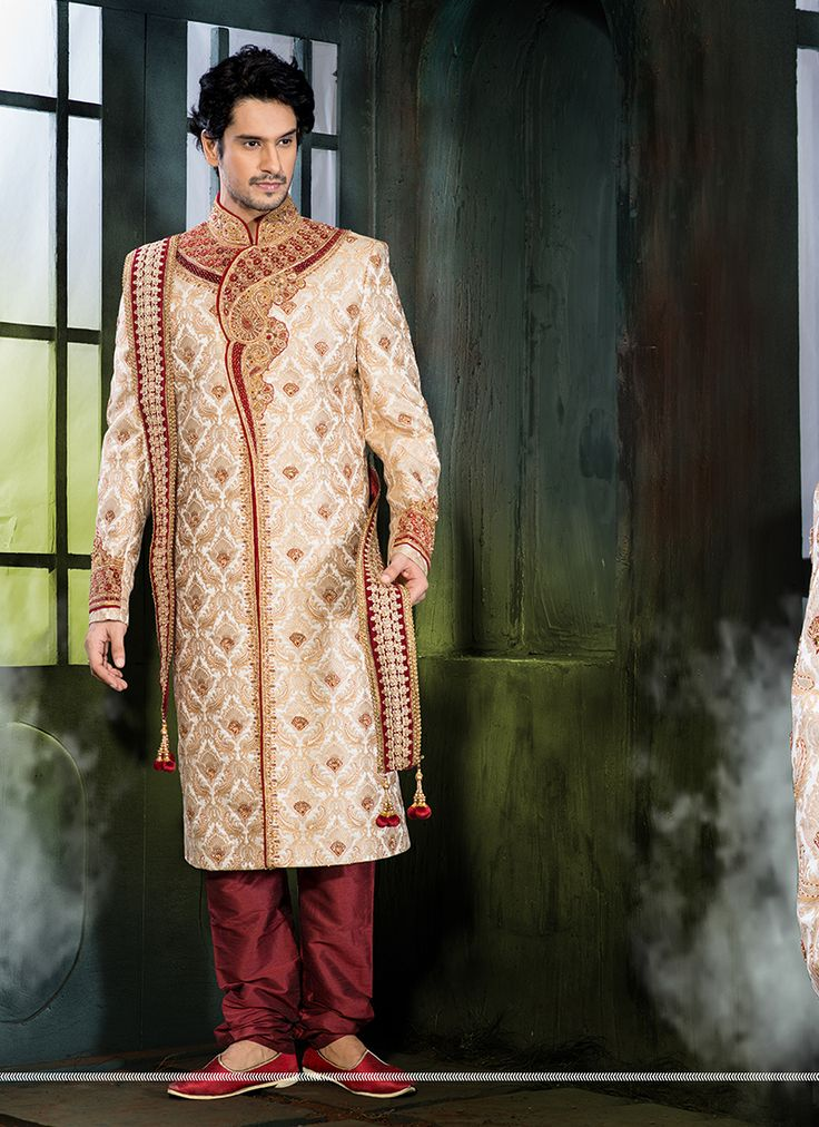 Wedding Wear Designer Festival Wear Sherwani Supplier  Buy Now @ http://www.suratwholesaleshop.com/wholesale-sherwanis-collection-with-pure-silk-2725?view=catalog