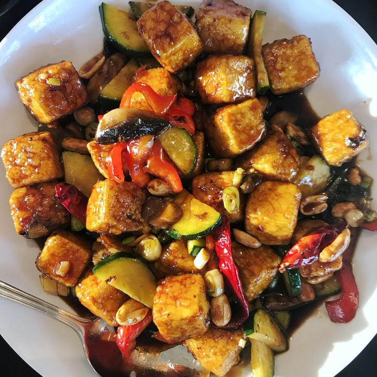 Kung Pao Tofu from Kung Pao Bistro in WeHo. [899x899][OC]