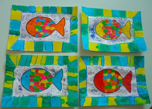 Les 93 meilleures images du tableau poissons en maternelle - Le petit poisson rouge maternelle ...