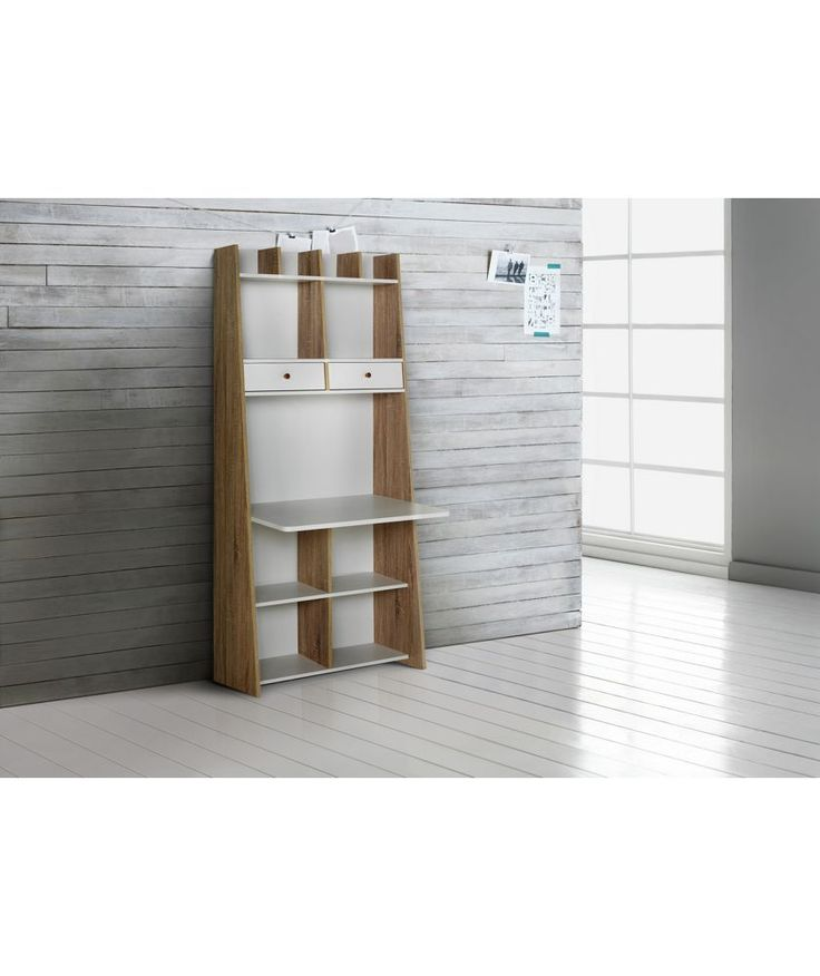 Buy Auckland Wall Unit Desk   White And Oak Effect At Argos.co.uk · Office  FurnitureBedroom ...