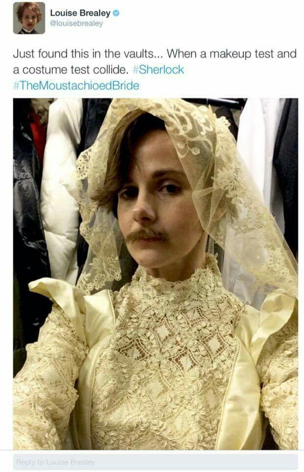 Lol. She looks gorgeous. | The Abominable Bride - Sherlock Christmas Special