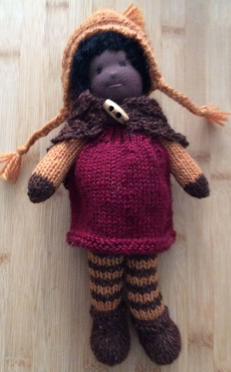 Waldorf Knitted Doll by SweetCheekDolls on Etsy