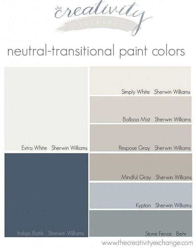 Paint Color Ideas. Color Palette Ideas. Interior Paint Color. Via The creative Exchange.