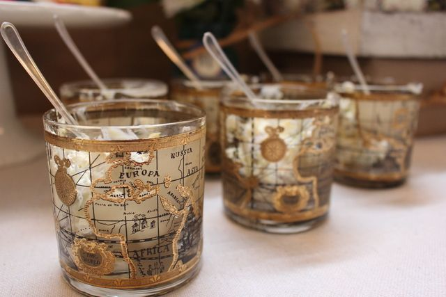 Map glasses at a Vintage Airplane party #vintageairplane #party