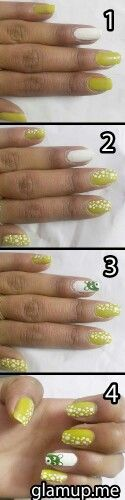 Nail art with funky teddy on ring finger as well as polka dots alternat color.