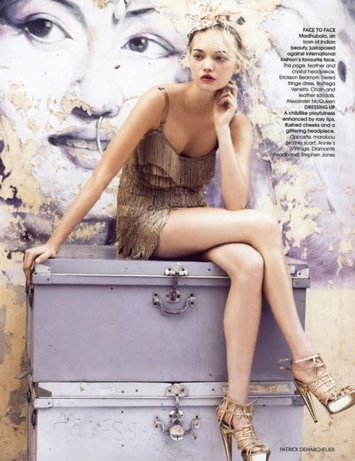 Gemma Ward for Vogue. Photographed by Patrick Demarchelier.