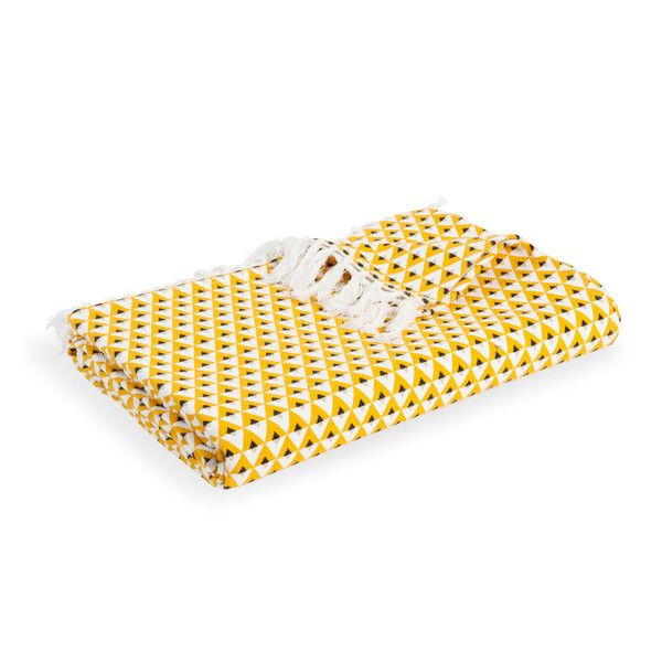 Gele katoenen HILTON sprei 180 x 240 ...