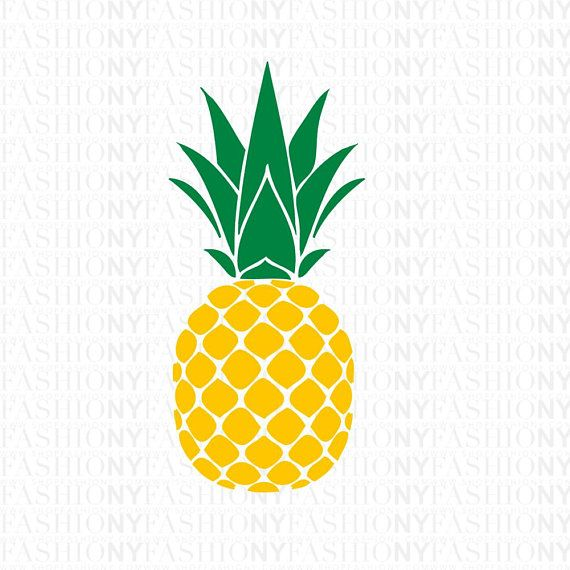 Pineapple glitter. Instant download svg monogram