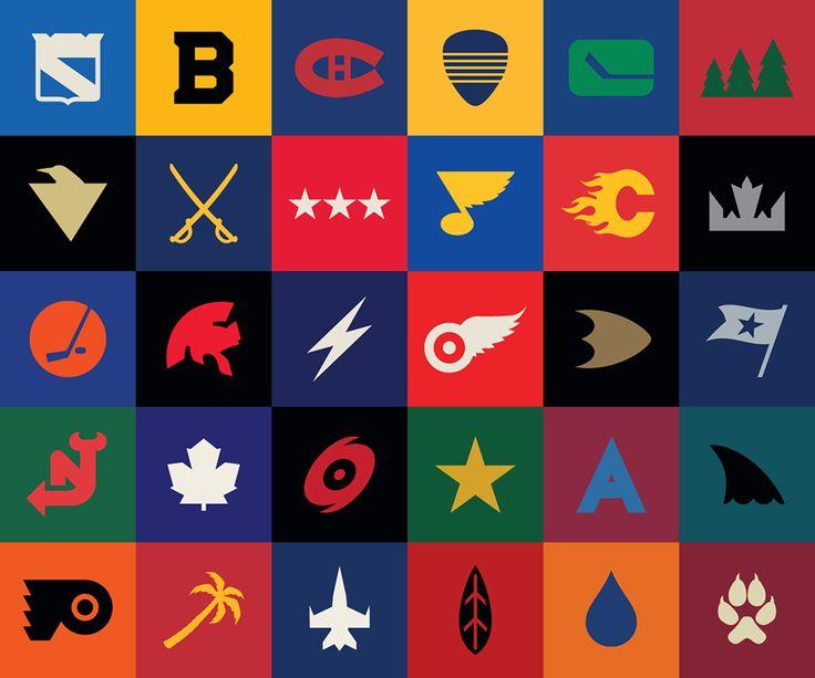 Segments Design NHL logos minimalist redesign