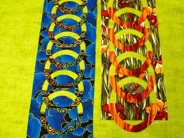 Flip la' K Chain Border Small Templates. These are fun and easy to use. What an amazing look they add to your quilts.