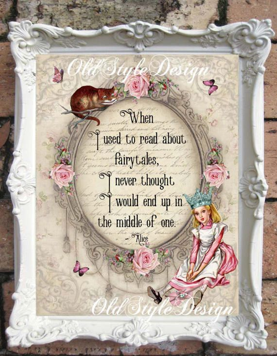 Alice In Wonderland Decor Alice In Wonderland Print Alice Quote Alice Vintage Print Alice In Wonderland Wall Art Alice Decoration A67 Alice In Wonderland Print Alice And Wonderland Quotes Wonderland Wedding