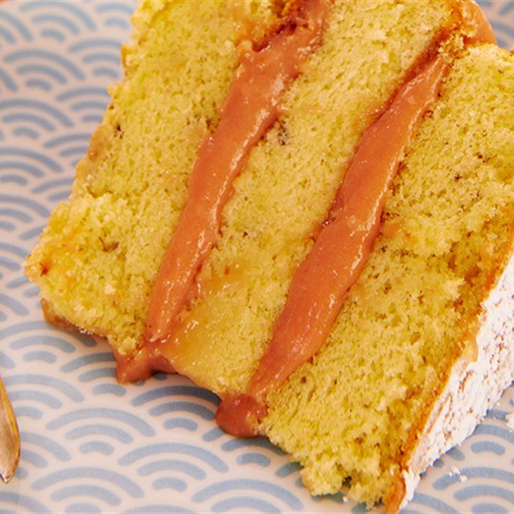 Rhubarb Sponge Cake Recipe