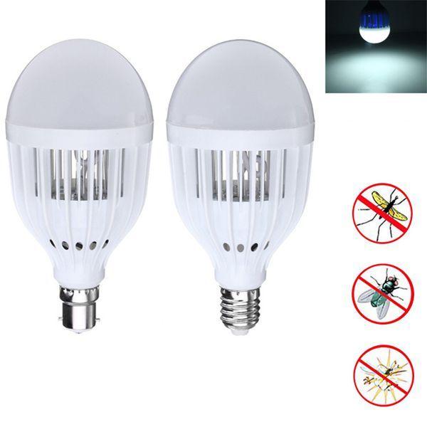 E27 B22 5W One Modo de iluminación Bug Zapper Mosquito Killer luz LED Bombilla AC220-240V