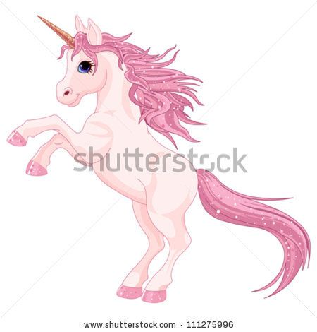 """L-BB """"Pink Unicorn"""" : This bold pink unicorn with glitter in her hair will be a perfect addition to a young girls bedroom or playroom. This tenacious young unicorn  shows sparkle and determination."""